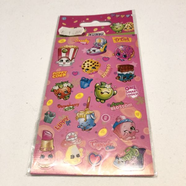 Stickers : Shopkins 6 sheets